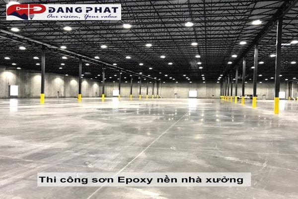 bảng giá sơn Epoxy nền nhà xưởng