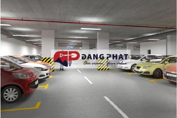 sơn kẻ vạch bãi đỗ xe ô tô