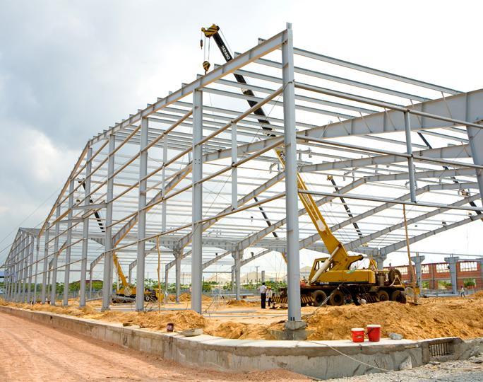 xây dựng nhà xưởng kết cấu thép tại bình dương